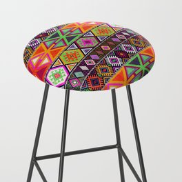 N247 - Colored Oriental Traditional Boho Moroccan Style Bar Stool