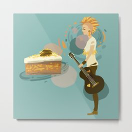 Pineapple Carrot Nut Cake Metal Print