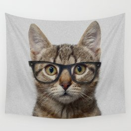 Hipster Cat Wall Tapestry