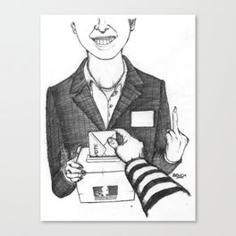 Le Contrat de Confiance Canvas Print