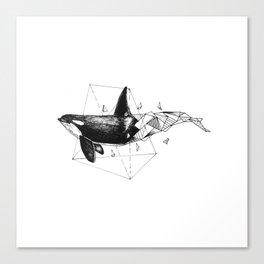 Geometric Season1:1 Whale Canvas Print