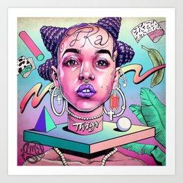 FKA (video girl) Art Print