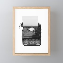 typewriter Framed Mini Art Print