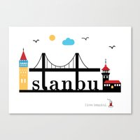 istanbul Canvas Prints featuring Istanbul.  by Irmak Berktas