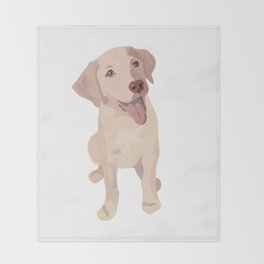 Golden (Lab) Girl Throw Blanket