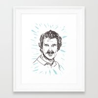 tom selleck Framed Art Prints featuring Tom Selleck! by Stuart MacCabe