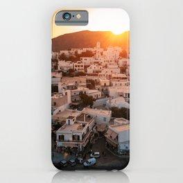 Milos Island Sunset iPhone Case