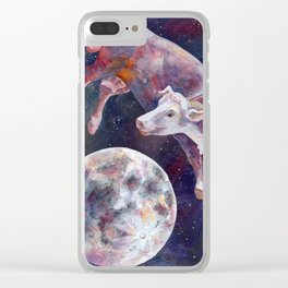 The Cow Jumped Over The Moon - III Clear iPhone Case