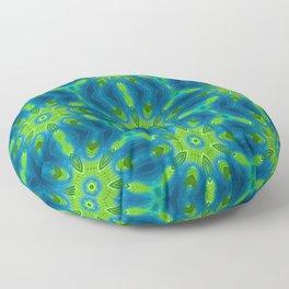 blue and green kaleidoscope Floor Pillow