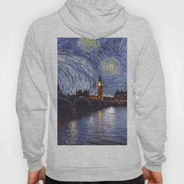starry night over london Hoody