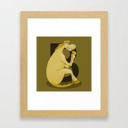 Pony Monogram Letter B Framed Art Print
