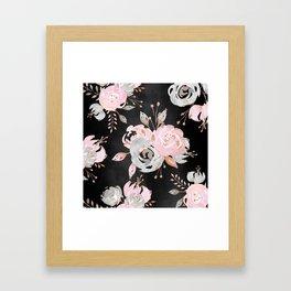 Night Roses 2 Framed Art Print