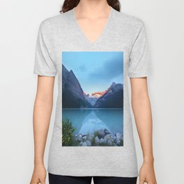 Mountains lake Unisex V-Neck