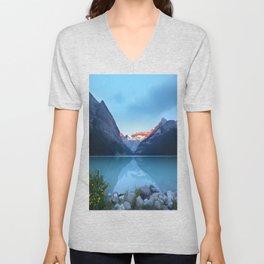 Mountains lake Unisex V-Neck
