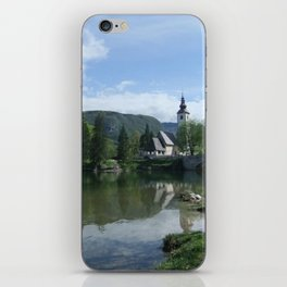 Church of St John the Baptist, Bohinj, Slovenia iPhone Skin