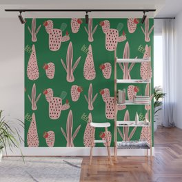 Mid Mod Cactus Green Wall Mural