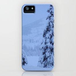 Snow Laden Evergreen Trees iPhone Case