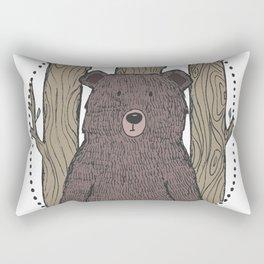 Portrait of a Bear Rectangular Pillow