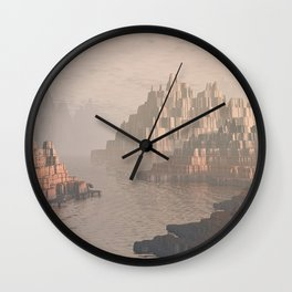 Canyon Landscape With River Wall Clock
