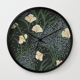 Lily Floral Wall Clock