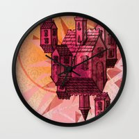 the lights Wall Clocks featuring Lights by Manfish Inc.