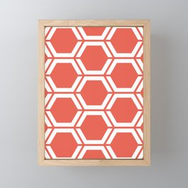 Fire opal - pink - Geometric Polygon Pattern Framed Mini Art Print