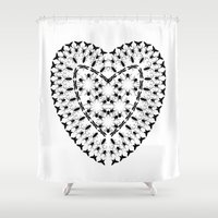 insects Shower Curtains featuring Insects by lllg