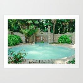 Ancient garden pool. Chile  Art Print