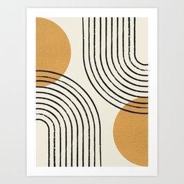 Sun Arch Double - Gold Art Print