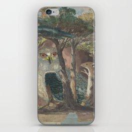 A Hemline of Forest Through Smoke iPhone Skin
