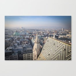 Vienna Cityscape from Stephansdom Canvas Print