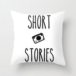 Short Stories Throw Pillow