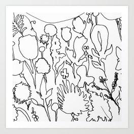 Daydream Contour Art Print