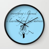 movies Wall Clocks featuring The Movies... by Jaclyn Celeste