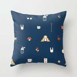 Alice on the Road-Secondary Throw Pillow
