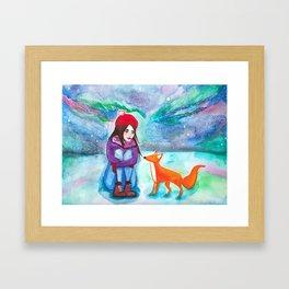CAELA (& the Northern Lights) Framed Art Print
