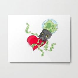 Alien Octopus Metal Print