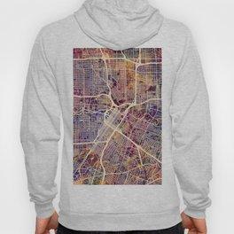 Houston Texas City Street Map Hoody