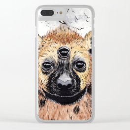 Witchy Hyena Clear iPhone Case