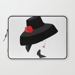A woman with a big Hat Laptop Sleeve