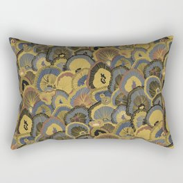 Tree Huggers in Gold Rectangular Pillow