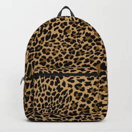 LEOPARD LEO SKIN ORIGINAL BLACK, BROWN. ANIMAL PRINT BY SUBGRL Backpack