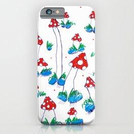 Crazy Xmas Mushrooms - Gift Idea iPhone Case