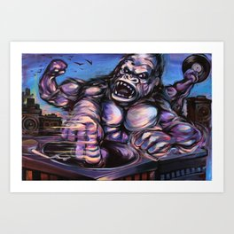 Gorilla King Massive Art Print