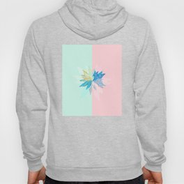 Floral Mint Pink Hoody
