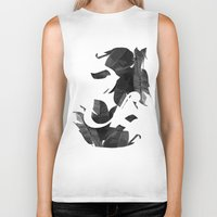 botanical Biker Tanks featuring Botanical Ampersand by Tamsin Lucie