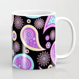 Oriental Persian Paisley - Blue Purple Pink Coffee Mug