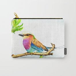 Lilac Roller Bird Carry-All Pouch