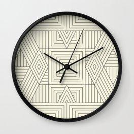 Mudcloth bege Wall Clock