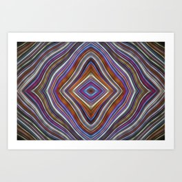 Wild Wavy Diamonds 35 Art Print